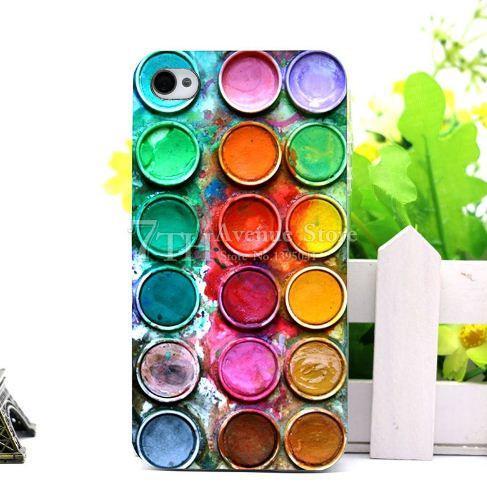 Оригинальный бампер для Iphone SE с картинкой Краски