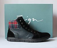 Шикарные зимние кожаные ботинки Zign, Германия-Оригинал