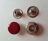Кнопка АЛЬФА - 15 мм эмаль № 148 красная