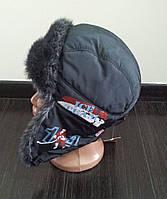"""Детская шапка -ушанка для мальчика, """"Хоккей"""""""