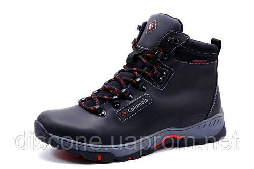 Зимние ботинки мужские Columbia на меху, черные, натуральная кожа