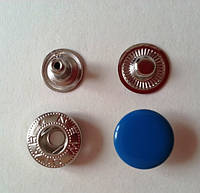 Кнопка АЛЬФА - 15 мм эмаль № 274 бирюза
