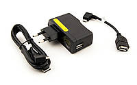 Комплект Powerlux™ KIT NL-01, для зарядки и коммуникации с планшетами Luxpad™, з/у USB-220V 5В/2А + кабель microUSB 1м + переходник OTG microUSB 10см