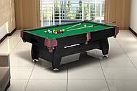 Бильярдный стол (VIP Extra 8FT) black-green с сетками