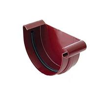 Заглушка желоба правая/левая bryza 125 мм красный