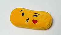 Мягкий пенал - сумочка Смайлик, Emoji, поцелуй