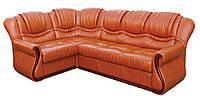 """Раскладной кожаный угловой диван  """"Ажур"""". (270*185 см)"""