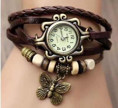 Винтажные женские наручные часы Shambala brown (коричневый)