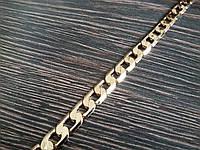 Цепь декоративная метражная металл №1 ширина 6мм цвет золото
