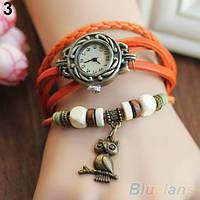 Винтажные женские наручные часы Shambala orange (оранжевый)