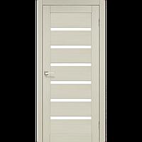 Дверь PORTO  PR-01. Со стеклом cатин (беленый дуб, дуб грей, орех, венге, дуб марсала). KORFAD (КОРФАД)