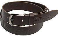 Мужской кожаный ремень под джинсы Skipper 3679 LEVI'S коричневый ДхШ: 135х4 см.