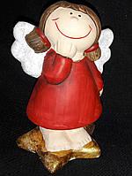 "Cтатуэтка из керамики ""Ангел на звезде"", вис. 10 см., 65\60 (цена за 1 шт. + 5 гр.)"