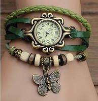 Винтажные женские наручные часы Shambala green (зеленый)