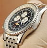 Часы мужские наручные breitling chronometre silver/black 206 aaa copy sk (реплика) - Фото