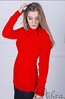 Свитер Молния 518 размер 42-48 красный