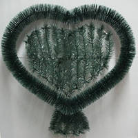Сердце мех Размер 65х70 см корзина ритуальная