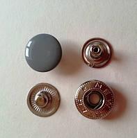 Кнопка АЛЬФА - 15 мм эмаль № 523 серая