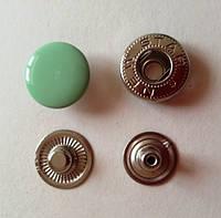 Кнопка АЛЬФА - 15 мм эмаль № 246 салатовая