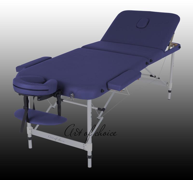 Трисекційний складаний алюмінієвий стіл LEO Comfort, Бежевий (Art of Choice)