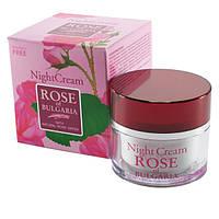 Ночной крем для лица «Роза Болгарии»  50ml. Розовая косметика Биофреш, Болгария