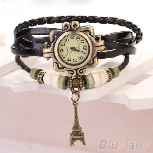Винтажные женские наручные часы Shambala black (черный)