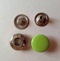 Кнопка АЛЬФА - 15 мм эмаль № 232 ярко-салатовая