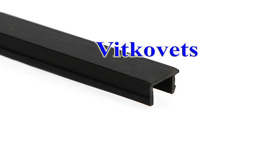 Линейная заглушка для алюминиевого профиля 8х2000мм (черная), фото 2