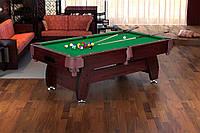 Бильярдный стол VIP Extra 9FT cherry-green с сетками