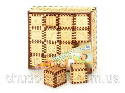 Деревянная игрушка Кубики идр 0007 (10шт) Английская Азбука, 16 кубиков, в кульке, 14-14-3,5см