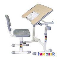 Комплект парта и стул-трансформеры FunDesk Piccolino II Grey