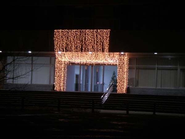 Светодиодное оформление фасада