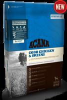 Беззерновой корм для собак всех пород и возрастов с курицей и зеленью Acana Cobb Chiсken & Greens 6 кг.