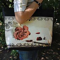 "Женская сумка ""Роза на письме"""