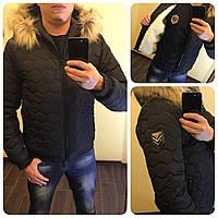 """Мужская зимняя куртка """"Аляска Соты"""" 1060 / черная"""