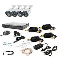 Комплект видеонаблюдения Tecsar AHD 4OUT-3M LIGHT