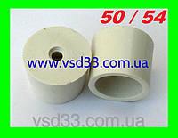 Пробка резиновая ø50-54mm для гидрозатвора на бутыль с отверстием ø 10mm под гидрозатвор
