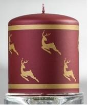 Свеча новогодняя золотые олени 80х90мм