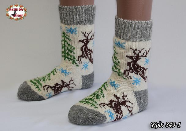 Женские шерстяные носки Олени, фото 2