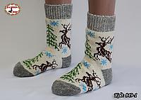 Женские шерстяные носки Олени