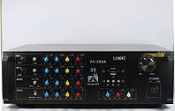 Усилитель звука UKC AMP AV-200A, 2х100W, 8Om, микшер, караоке, 2 микрофонных канала, USB порт, кардридер