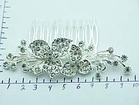 Цветочное украшение на голову. Свадебные гребешки. 342