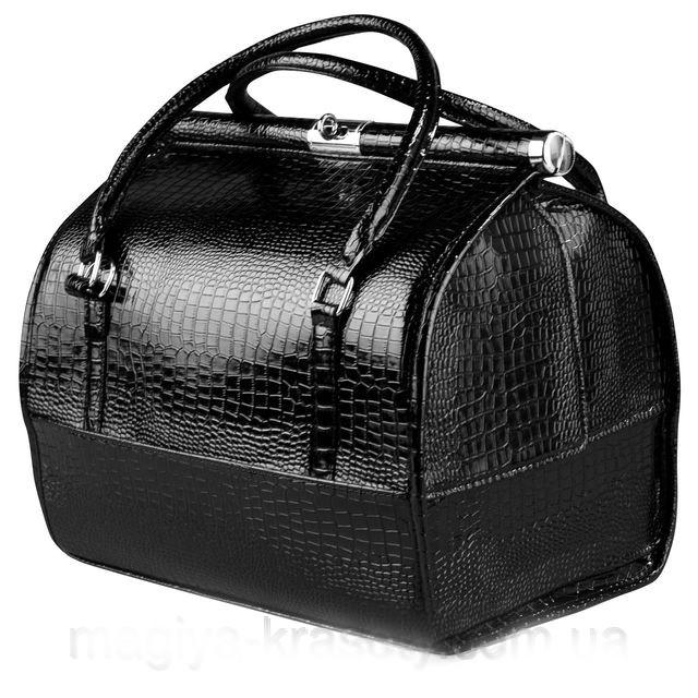 Кейс профессиональный со съемным органайзером, черный лаковый
