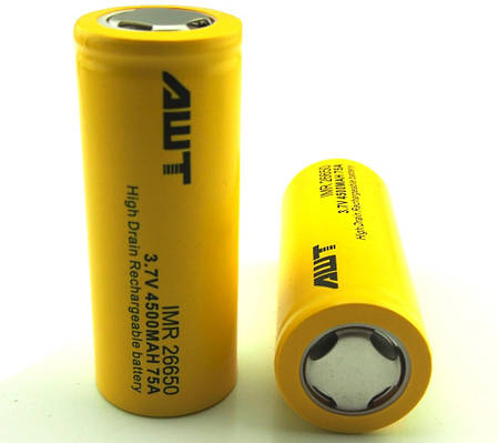 Аккумулятор AWT 26650 4500mah 75A