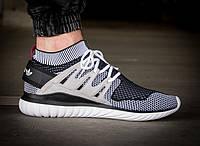 Спортивные кроссовки мужские Adidas Tubular Nova White/Blue