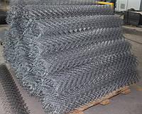Сетка рабица металлическая, сетка плетенная 50х50х1,6 мм, высота 1,2м купить цена доставка