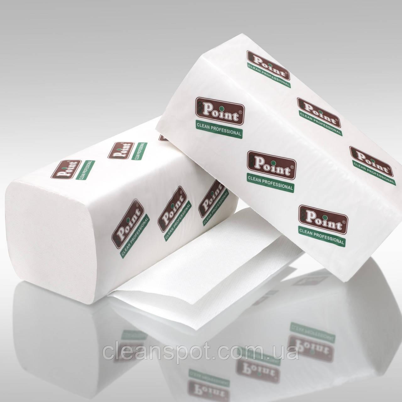 Полотенца бумажные V Lux белые 2-шар 150шт Eco Point