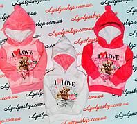 Кофа махра для девочки Sincere  р.1-5 лет, купить детские батники оптом белые
