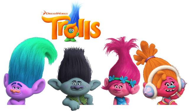Игрушки из м/ф Trolls