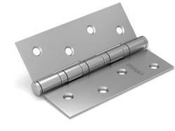 Петля дверная универсальная врезная FUARO 4BB 125x75x2,5 PN (перл. никель), 1 шт.